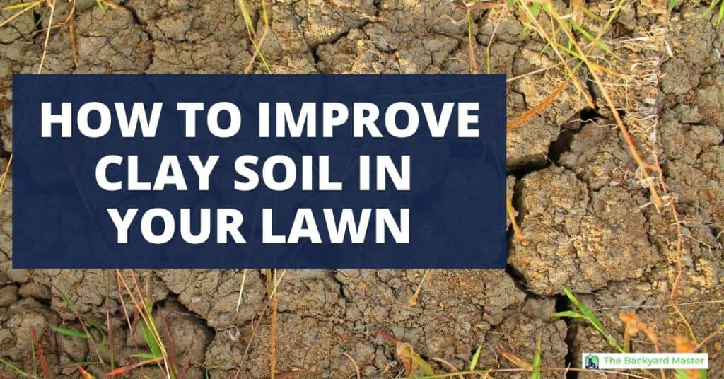 How to improve clay soil for lawns.