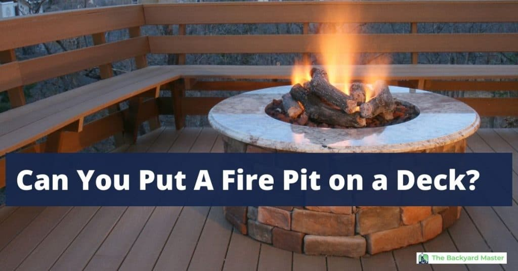 Can You Put A Fire Pit on a Deck?   Custom fire pit on backyard deck