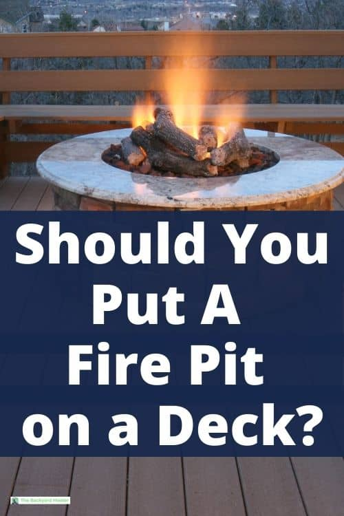 Should you put a fire pit on a wooden deck?